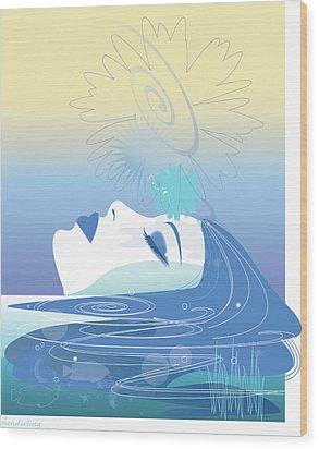 Meditation Wood Print by Lisa Henderling