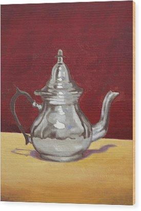 Mediterranean Silver Kettle Wood Print by Sam Shacked