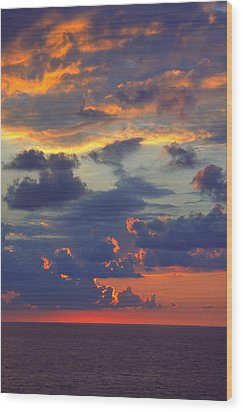 Mediterranean Sky Wood Print by Mark Greenberg