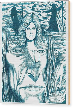 Medusa Lament Wood Print by Jamie Jonas