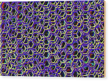 Mega Nano Structure Wood Print by Rod Saavedra-Ferrere