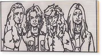 Megadeth Wood Print by Jeremiah Colley