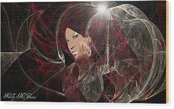 Melanie Amaro Wood Print by Kelly Turner