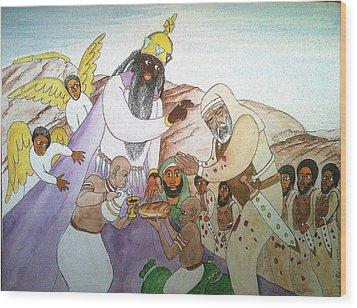 Melchizedek's  Blessing Of Abram Wood Print by Derek Perkins