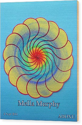 Mella Murphy Wood Print by Ahonu