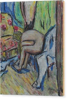 Mellisa 97 Wood Print by Bradley Bishko
