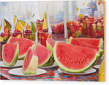 Melons Wood Print
