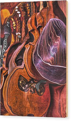 Melt-olins Wood Print by Frank SantAgata