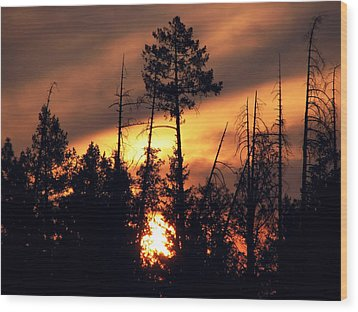 Melting Skies Wood Print