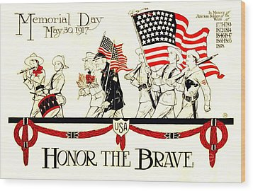 Memorial Day Wood Print by Pg Reproductions