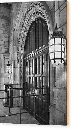 Memorial Hall Entrance Wood Print by Steven Ainsworth