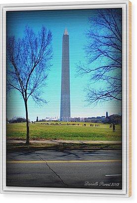 Wood Print featuring the photograph Memorials Washington  D.c. by Danielle  Parent