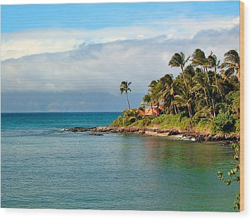 Memories Of Maui Wood Print by Lynn Bauer