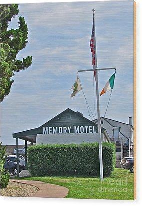 Memory Motel Wood Print