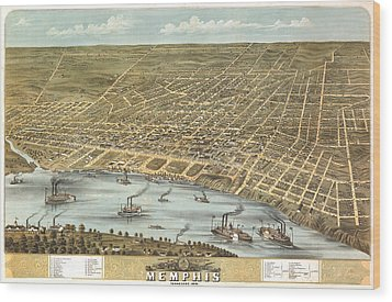 Memphis Tennessee 1870 Wood Print by Donna Leach