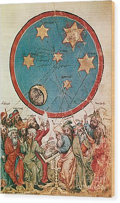 Men & Their Guiding Stars Wood Print by Science Source