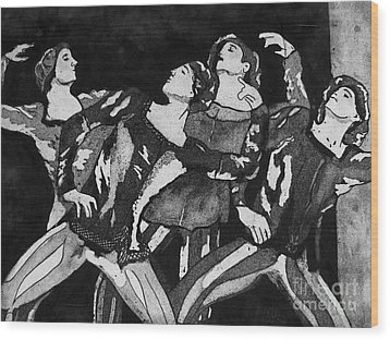 Men In Tights Wood Print by Colleen Kammerer