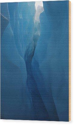 Mendenhall Glacier Wood Print by Julie VanDore