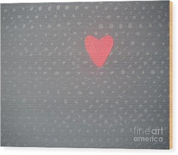 Mending The Holes In My Heart Wood Print by Jeannie Atwater Jordan Allen