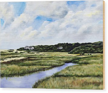 Menemsha Marsh Wood Print by Paul Gardner