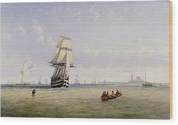 Meno War Schooners And Royal Navy Yachts Wood Print by Claude T Stanfield Moore