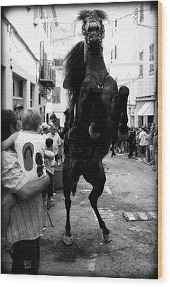 Wood Print featuring the photograph Menorca Horse 3 by Pedro Cardona
