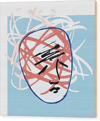 Mental Breakdown, Conceptual Artwork Wood Print by Paul Brown