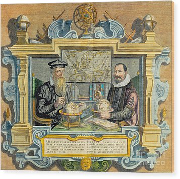 Mercator And Hondius Wood Print by Science Source
