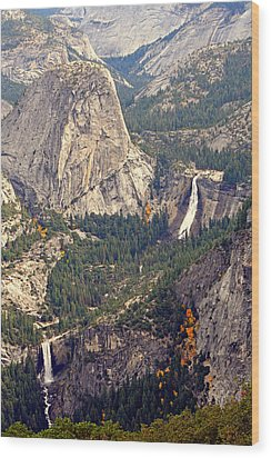 Merced River Canyon Wood Print by Lynn Bawden