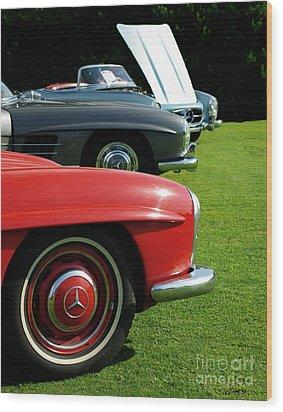 Mercedes 300 Sl Wood Print by Peter Piatt