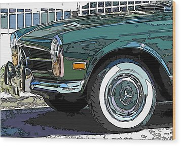 Mercedes Benz 280sl Roadster 2 Wood Print