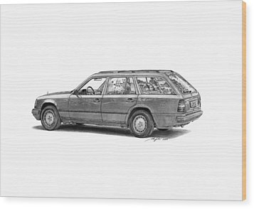 Mercedes-benz E-class Wagon Wood Print by Gabor Vida