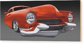 Mercury Low Rider Wood Print by Mike McGlothlen