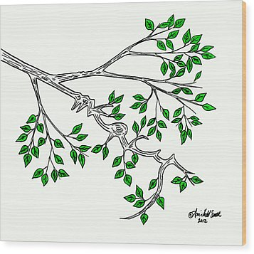 Mercy Wood Print by Ani Todd Smith