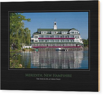 Meredith Inn Wood Print by Jim McDonald Photography