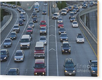 Merging Traffic Wood Print by Jeremy Woodhouse