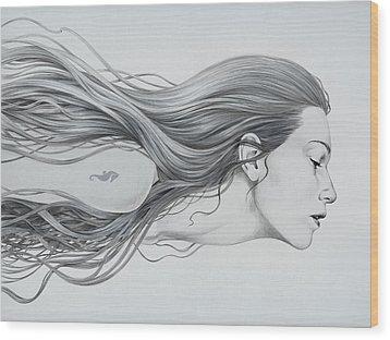 Mermaid Wood Print by Diego Fernandez
