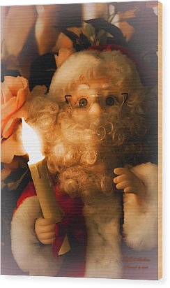 Wood Print featuring the photograph Merry Christmas by Itzhak Richter