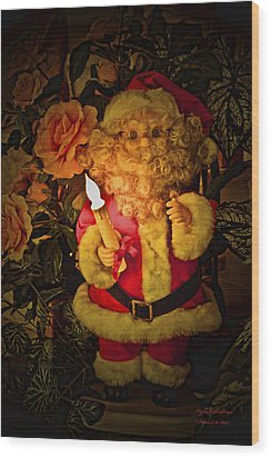 Wood Print featuring the photograph Merry Christmas To You by Itzhak Richter