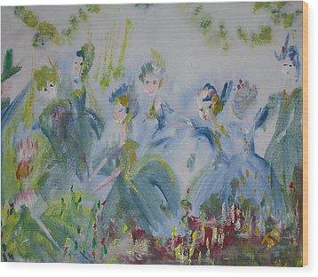 Merry Waltz Wood Print by Judith Desrosiers