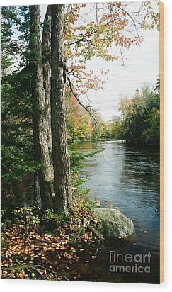 Mersey River Wood Print by Frank Townsley