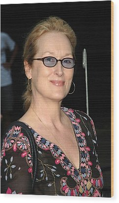 Meryl Streep At Arrivals For The 2006 Wood Print by Everett
