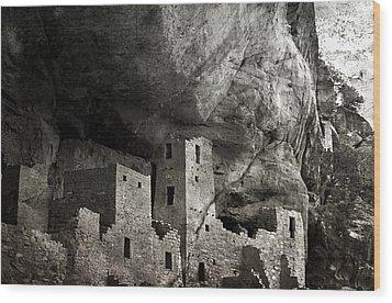 Mesa Verde - Monochrome Wood Print by Ellen Heaverlo