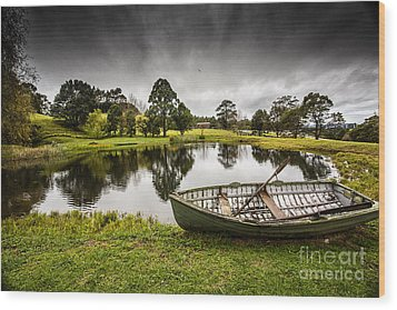 Messing About In A Boat Wood Print by Avalon Fine Art Photography