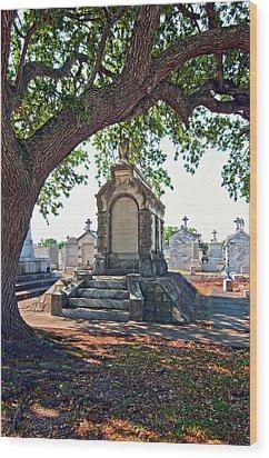 Metairie Cemetery Wood Print by Steve Harrington