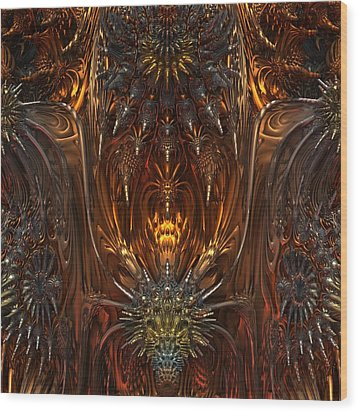 Metal Dragons Wood Print by Lyle Hatch