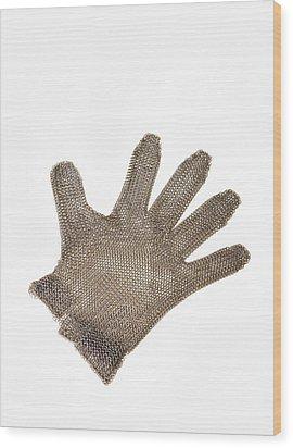 Metal Mesh Glove Wood Print by Cristina Pedrazzini