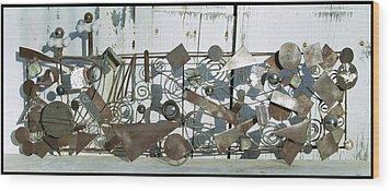Metal Sculpture  Wood Print by Tommy  Urbans