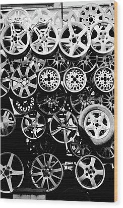 Metal Wheels Wood Print by Ion-Bogdan DUMITRESCU