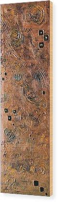 Metallic Abstract Wood Print by Srijanani Sundararajan